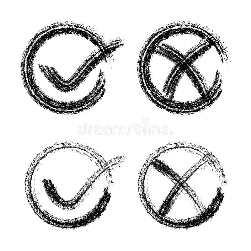Icone del segno di spunta illustrazione vettoriale