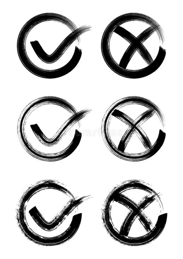 Icone del segno di spunta royalty illustrazione gratis