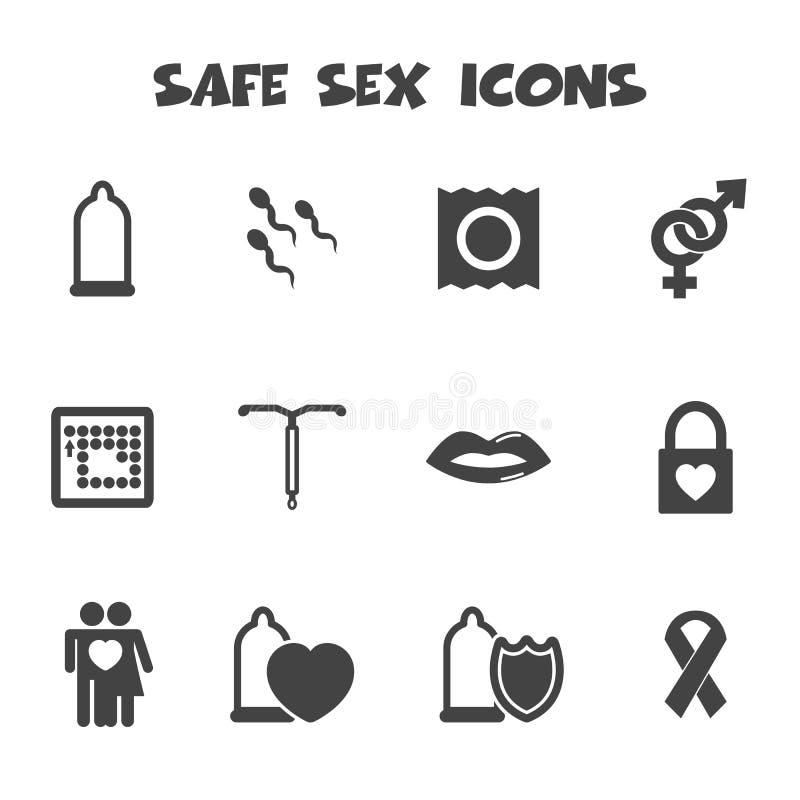 Icone del sesso sicuro illustrazione di stock