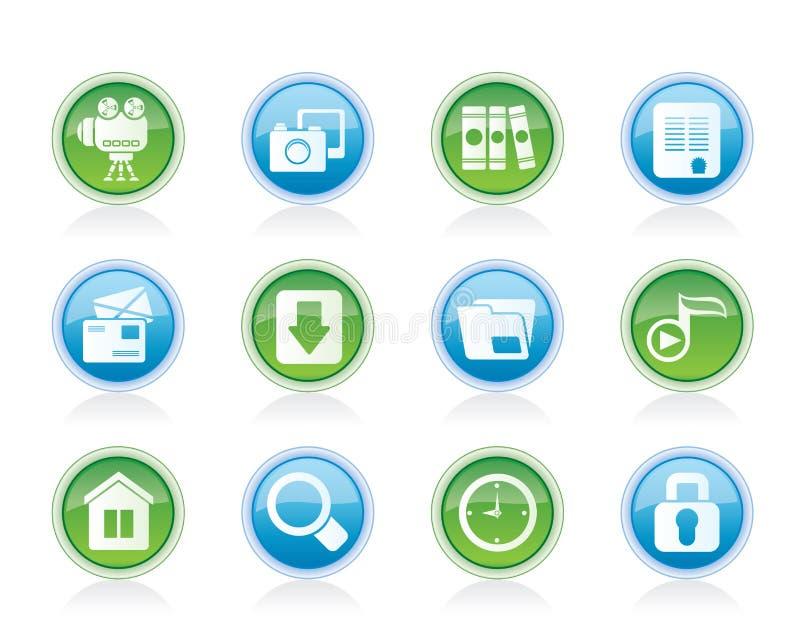 Icone del sito Web e del computer royalty illustrazione gratis