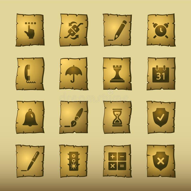 Icone del software del papiro