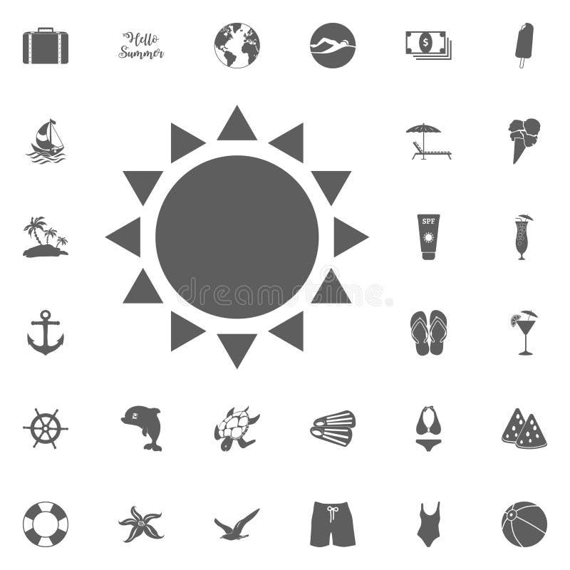 Icone del sole di estate royalty illustrazione gratis
