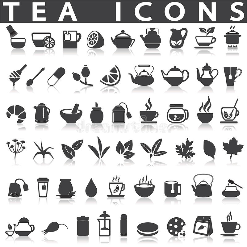 Icone del tè royalty illustrazione gratis