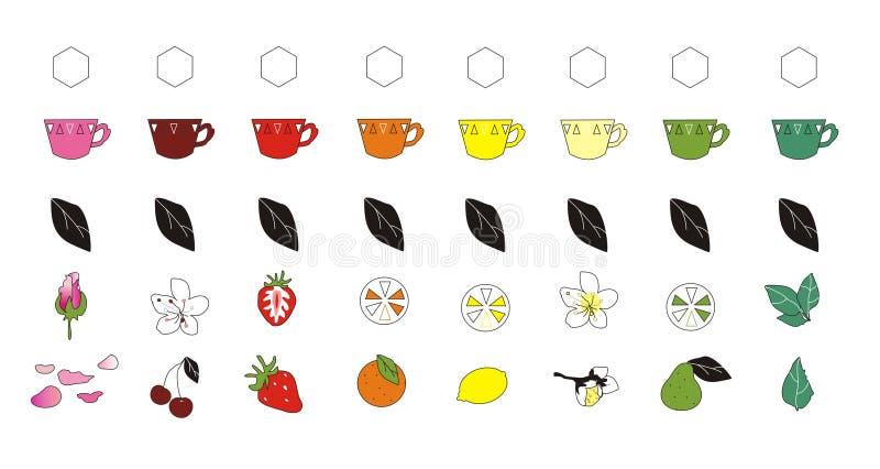 Icone del tè immagini stock libere da diritti