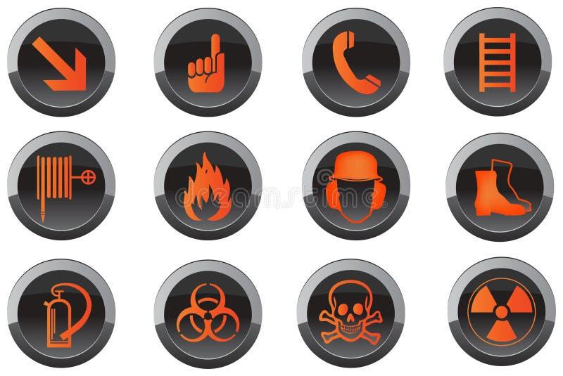 Icone del tasto di sicurezza illustrazione vettoriale