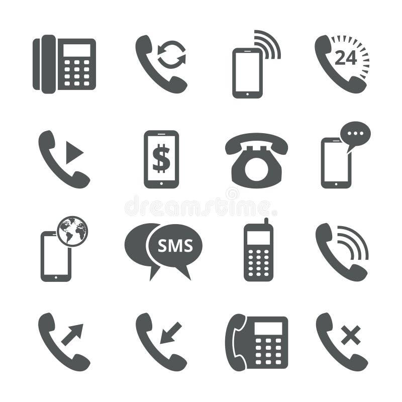 Icone del telefono illustrazione di stock