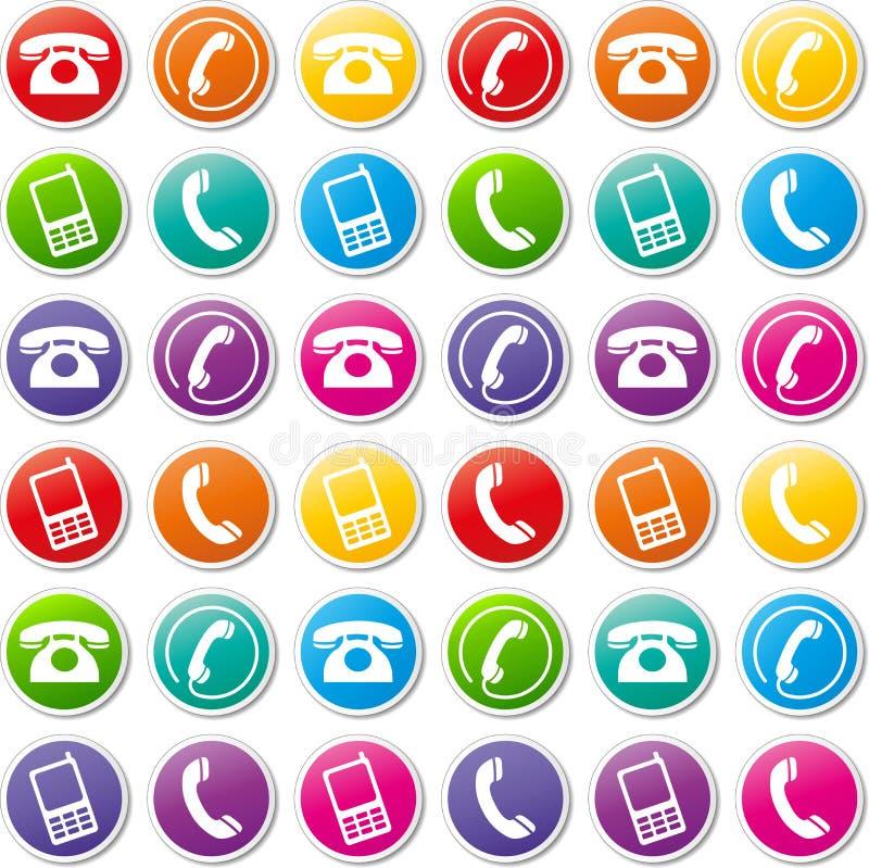 Icone del telefono di vettore fotografia stock libera da diritti