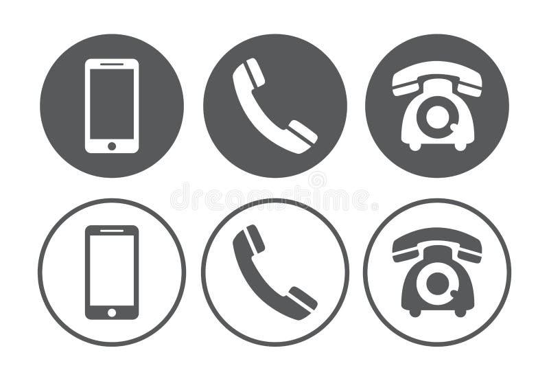 Icone del telefono messe illustrazione vettoriale