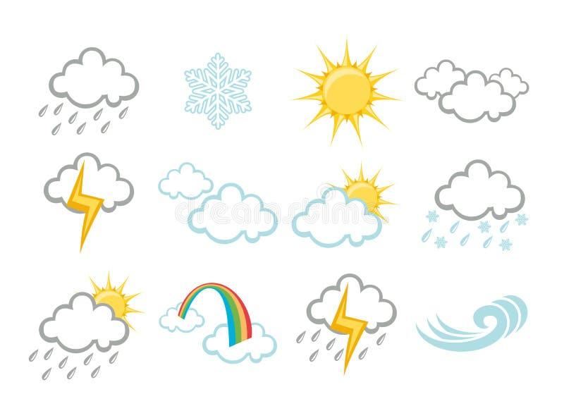 Icone del tempo illustrazione vettoriale