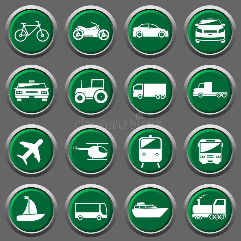Icone del trasportatore illustrazione vettoriale