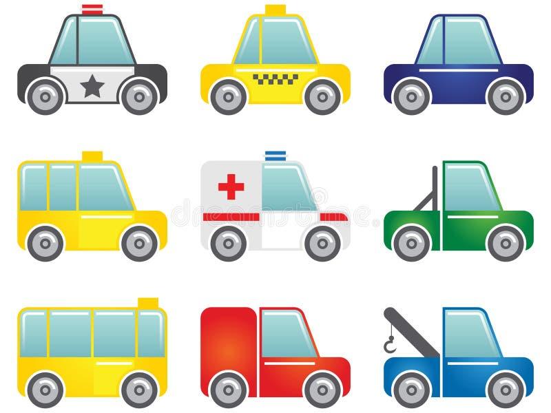 Icone del trasporto impostate fotografia stock libera da diritti