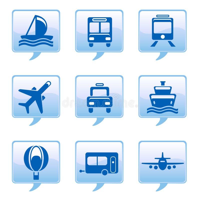 Icone del veicolo illustrazione vettoriale