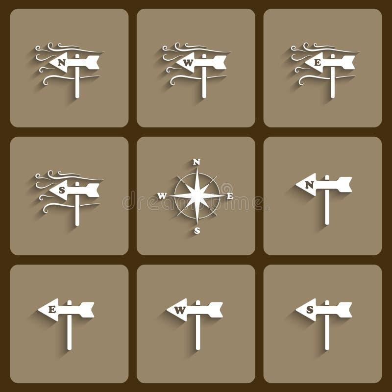 Icone del vento illustrazione di stock