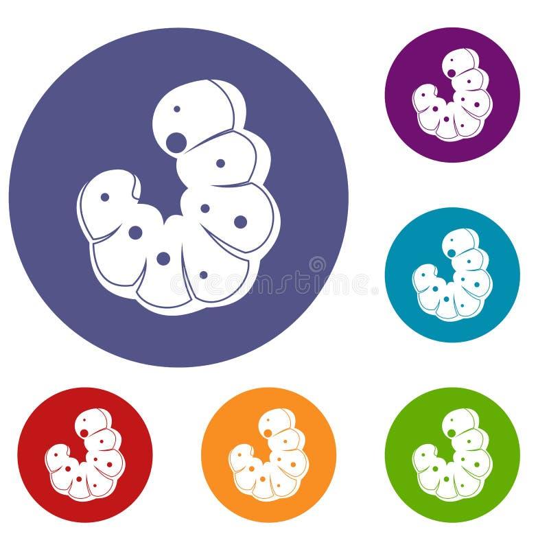 Icone del verme messe royalty illustrazione gratis