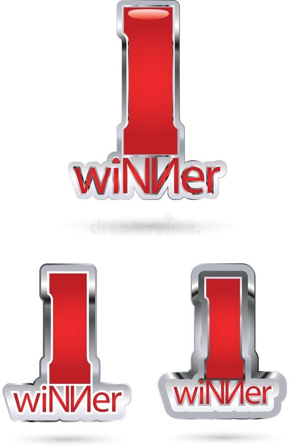 Icone del vincitore royalty illustrazione gratis