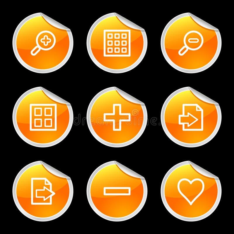 Icone del visore di immagine illustrazione di stock