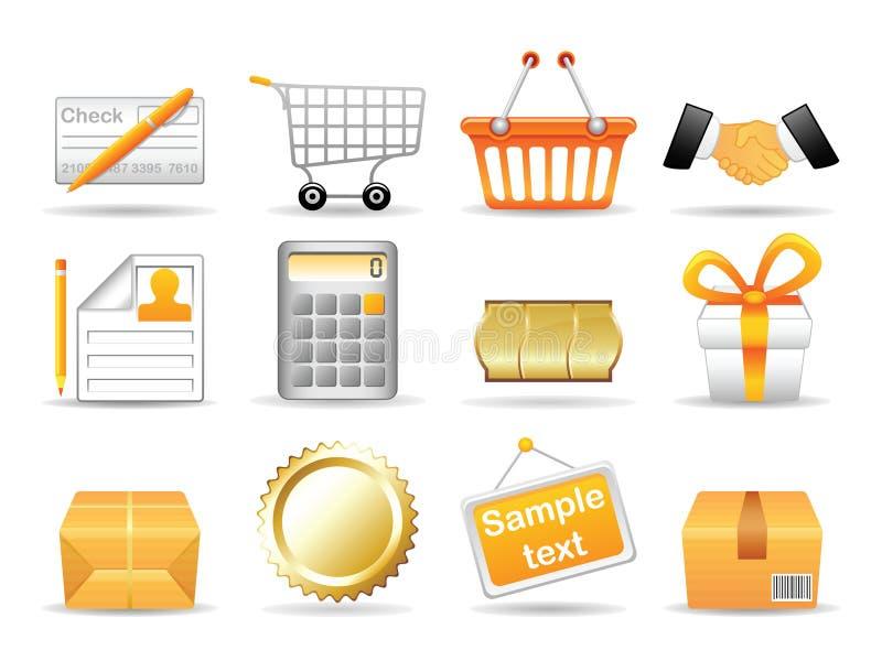 Icone dell'accumulazione illustrazione di stock