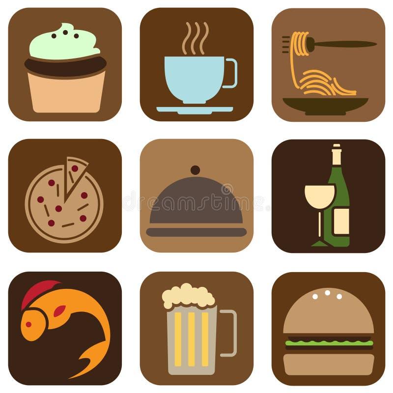 Icone dell'alimento illustrazione vettoriale