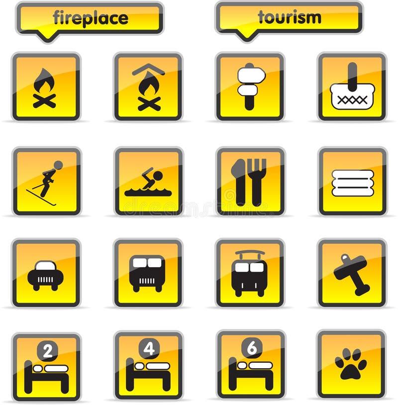 Icone dell'alloggiamento illustrazione vettoriale