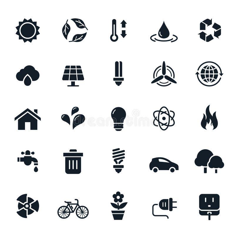 Icone dell'ambiente e di ecologia illustrazione vettoriale