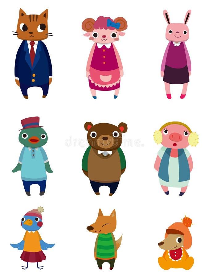Icone dell'animale del fumetto illustrazione di stock