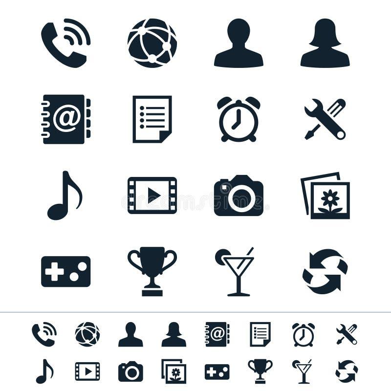 Icone dell'applicazione royalty illustrazione gratis