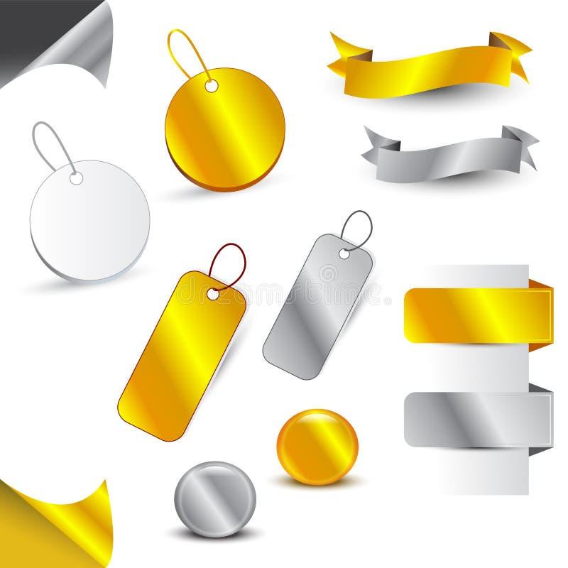 Icone dell'argento & dell'oro royalty illustrazione gratis