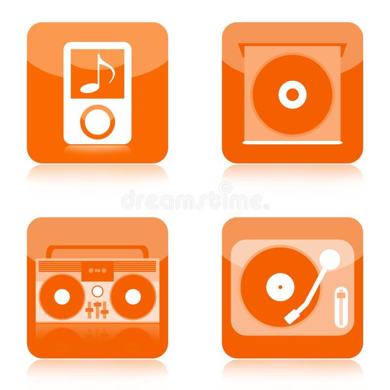 Icone dell'audio di musica illustrazione di stock