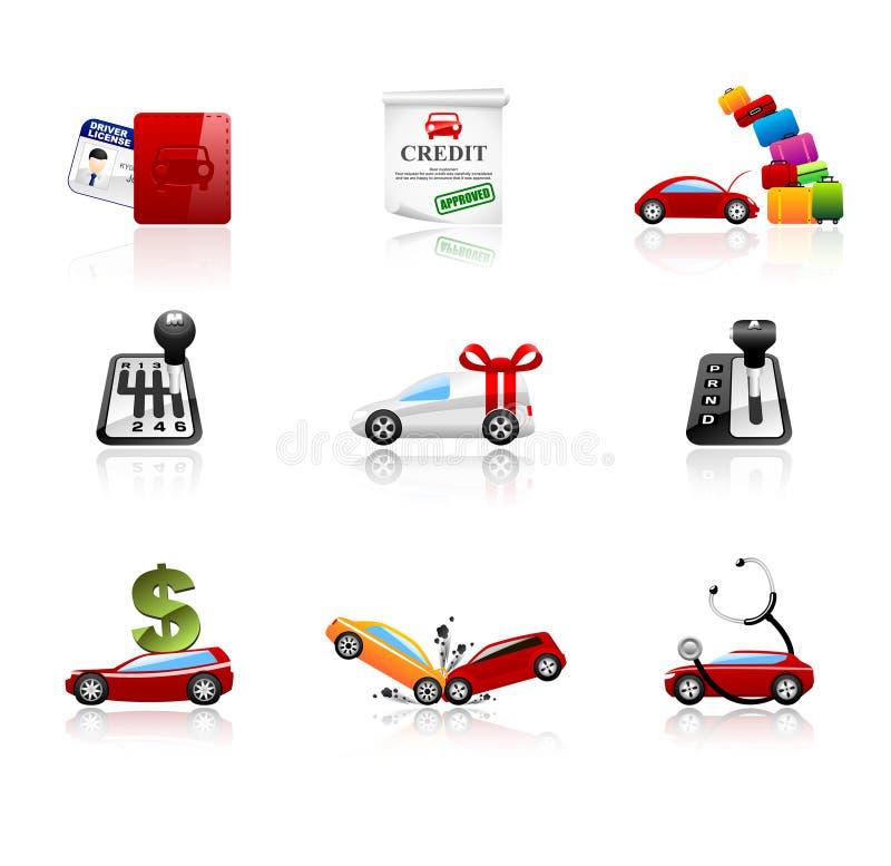 Icone dell'automobile fotografia stock