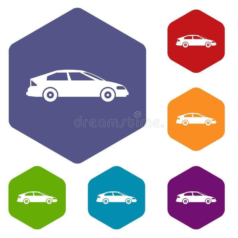 Download Icone Dell'automobile Impostate Illustrazione Vettoriale - Illustrazione di automobile, rhombus: 117978962