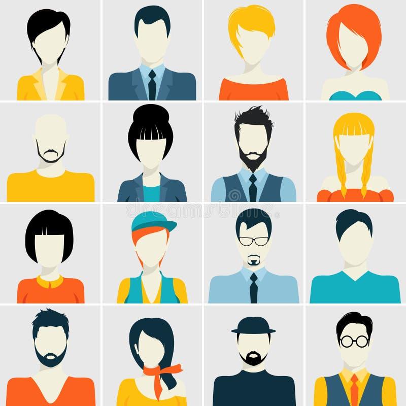 Icone dell'avatar messe royalty illustrazione gratis