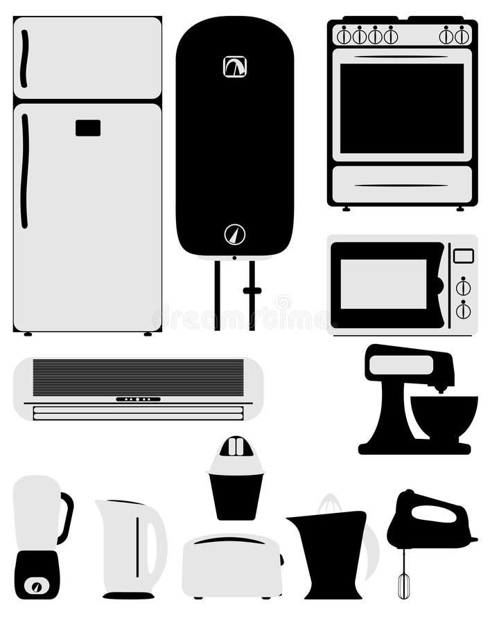 Icone dell'elettrodomestico immagine stock libera da diritti
