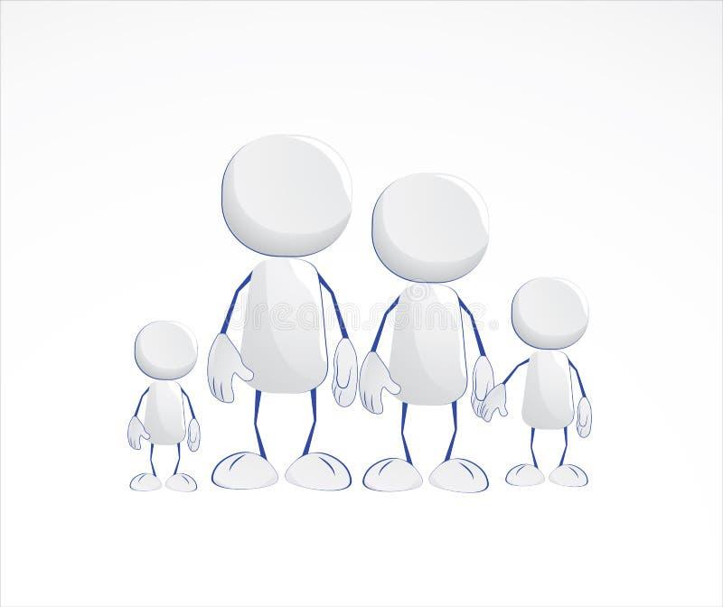 Icone dell'essere umano della famiglia illustrazione vettoriale