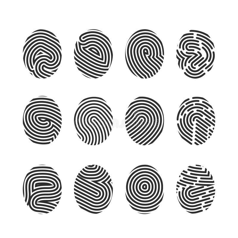Icone dell'impronta digitale royalty illustrazione gratis