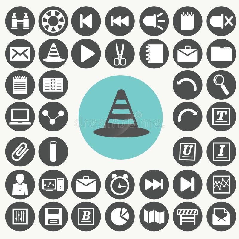 Icone dell'interfaccia di applicazione messe illustrazione di stock