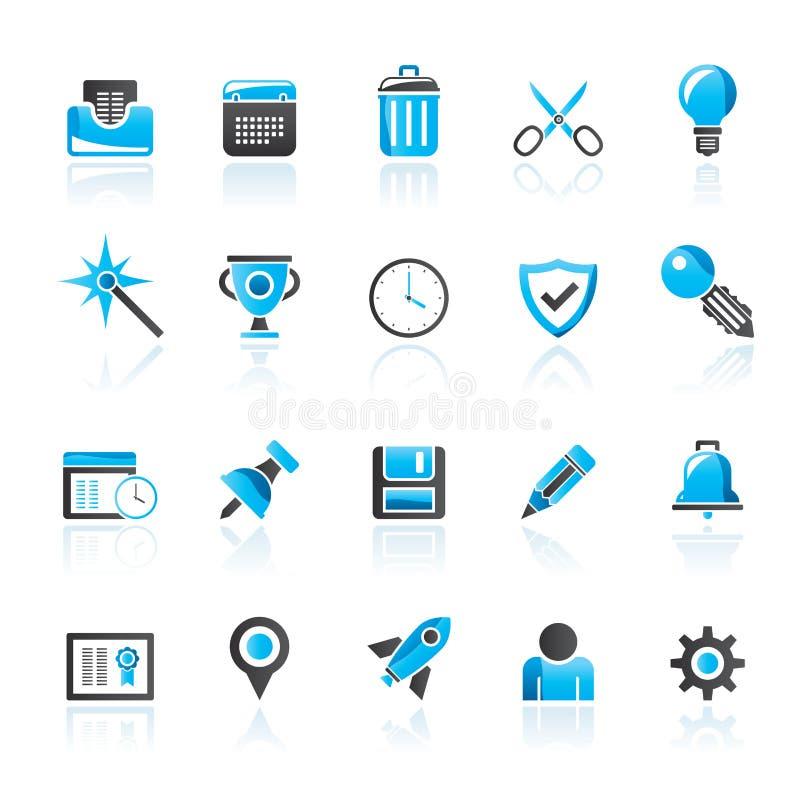 Icone dell'interfaccia di Internet e del sito Web illustrazione vettoriale
