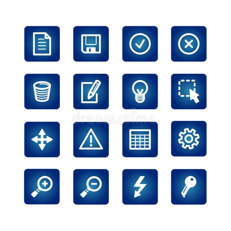 Icone dell'interfaccia impostate illustrazione vettoriale