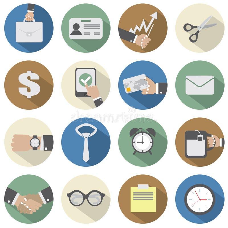 Icone dell'ufficio illustrazione di stock