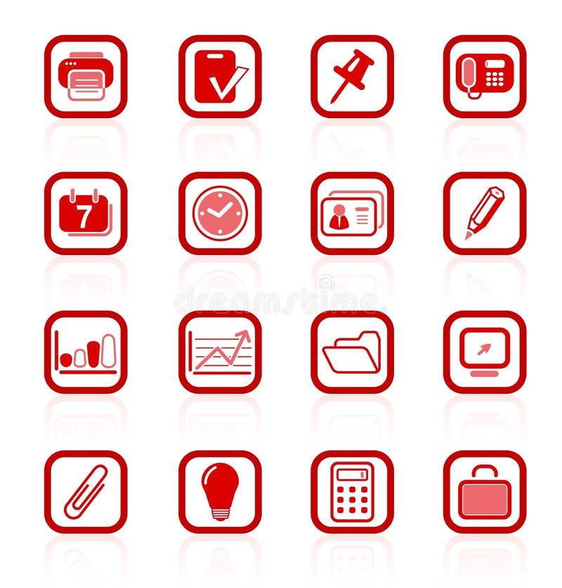 Icone dell'ufficio immagini stock libere da diritti