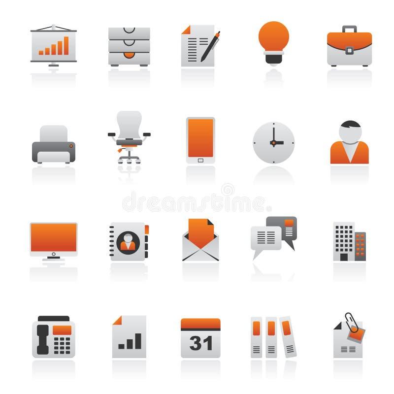 Icone dell'ufficio e di affari illustrazione vettoriale