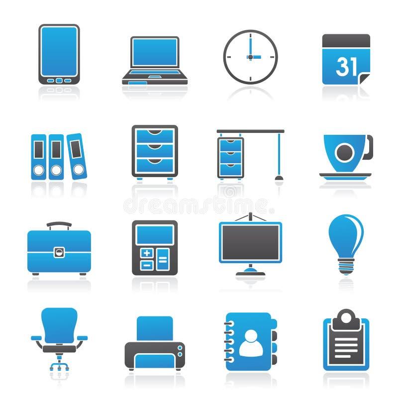 Icone dell'ufficio e di affari royalty illustrazione gratis