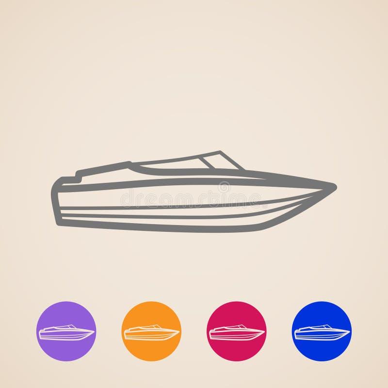 Icone dell'yacht illustrazione vettoriale