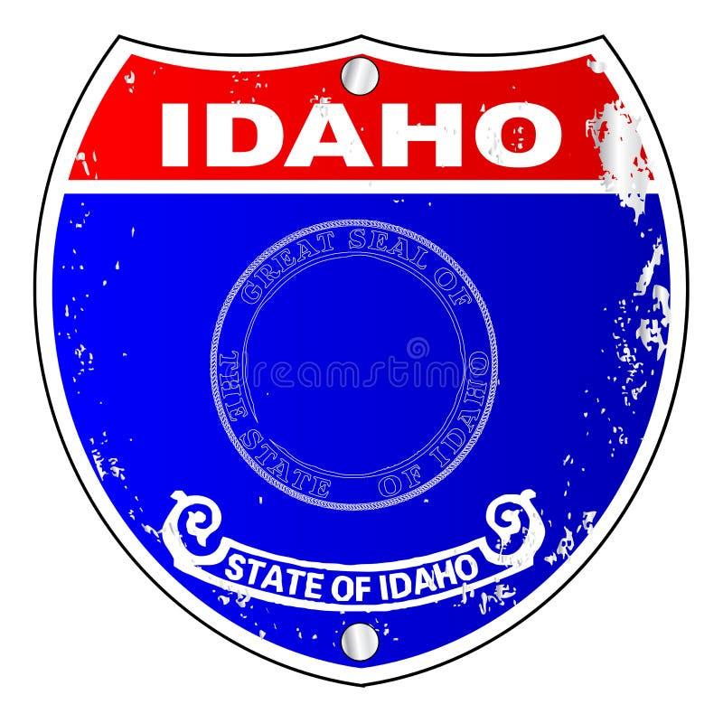 Icone della bandiera dell'Idaho come segno da uno stato all'altro royalty illustrazione gratis