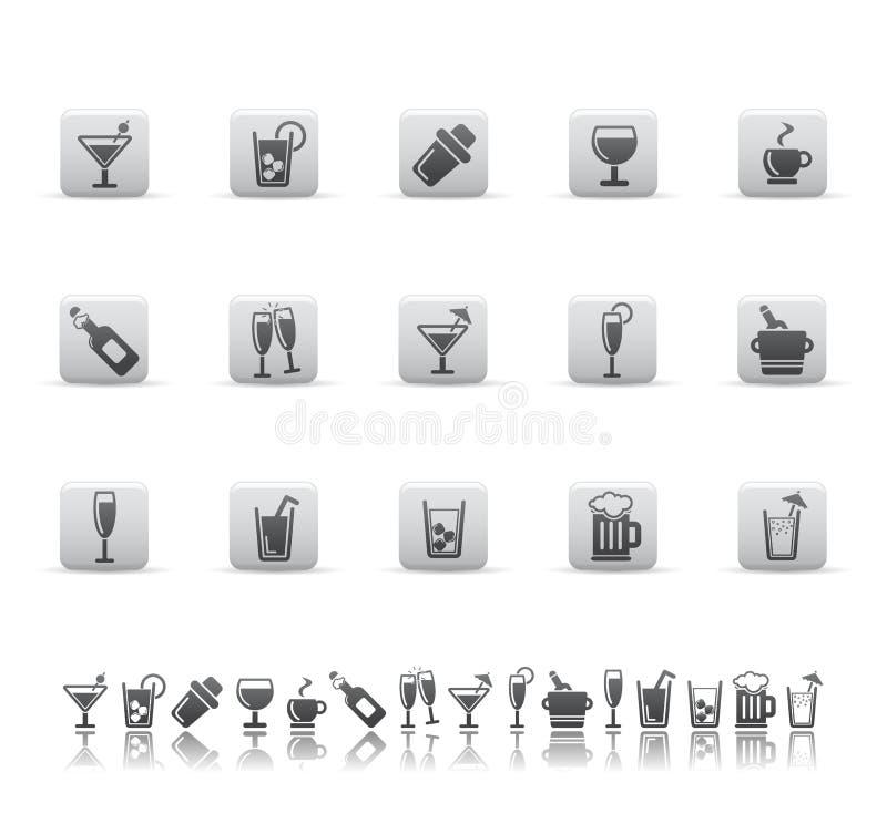 Icone della barra e della bevanda. royalty illustrazione gratis