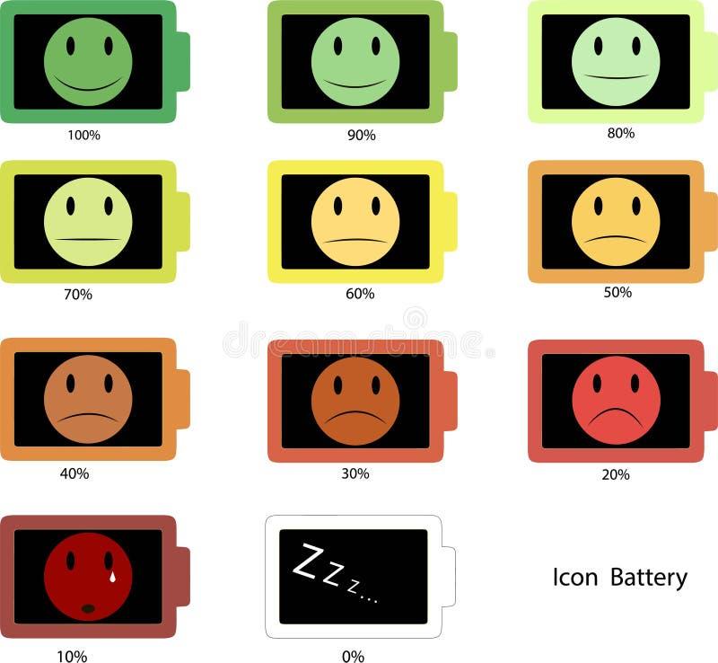 Icone della batteria immagine stock