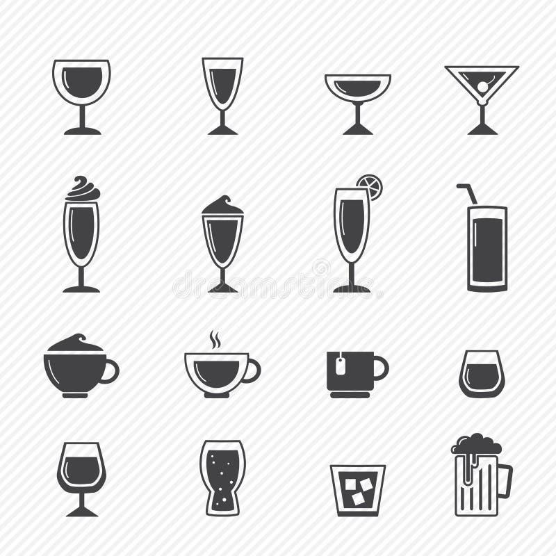 Icone della bevanda royalty illustrazione gratis