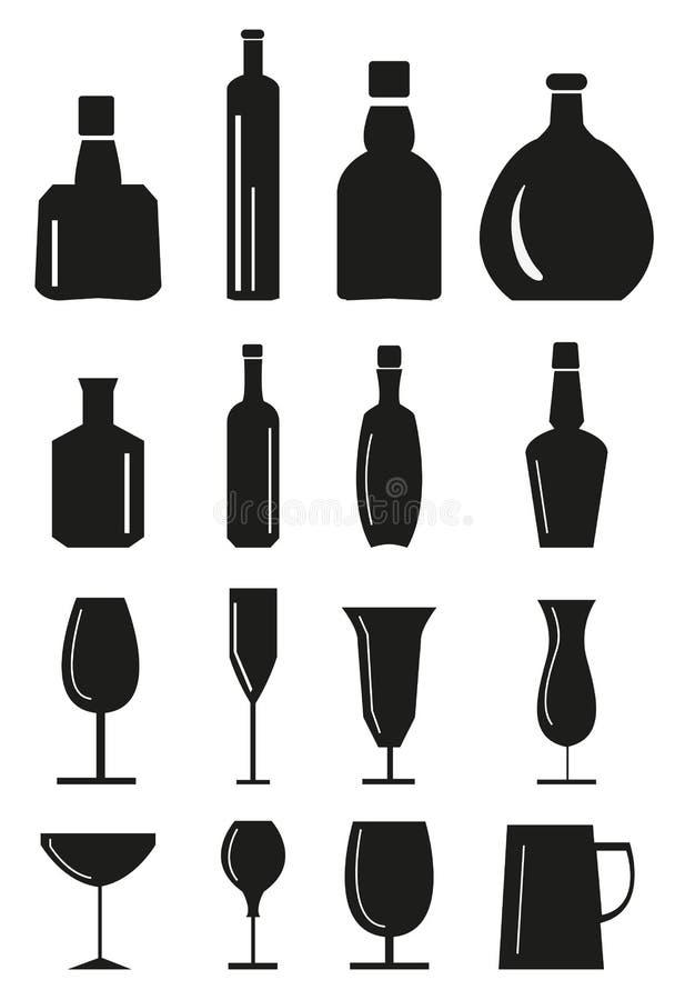 Icone della bevanda messe royalty illustrazione gratis