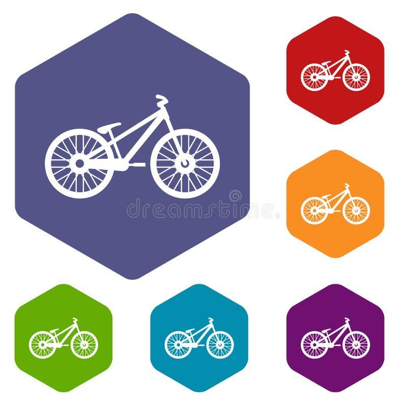 Download Icone della bici messe illustrazione vettoriale. Illustrazione di insieme - 117979051