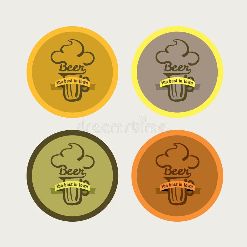 Icone della birra illustrazione vettoriale