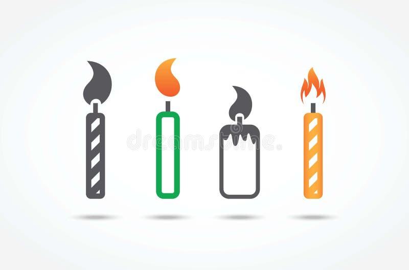 Icone della candela royalty illustrazione gratis